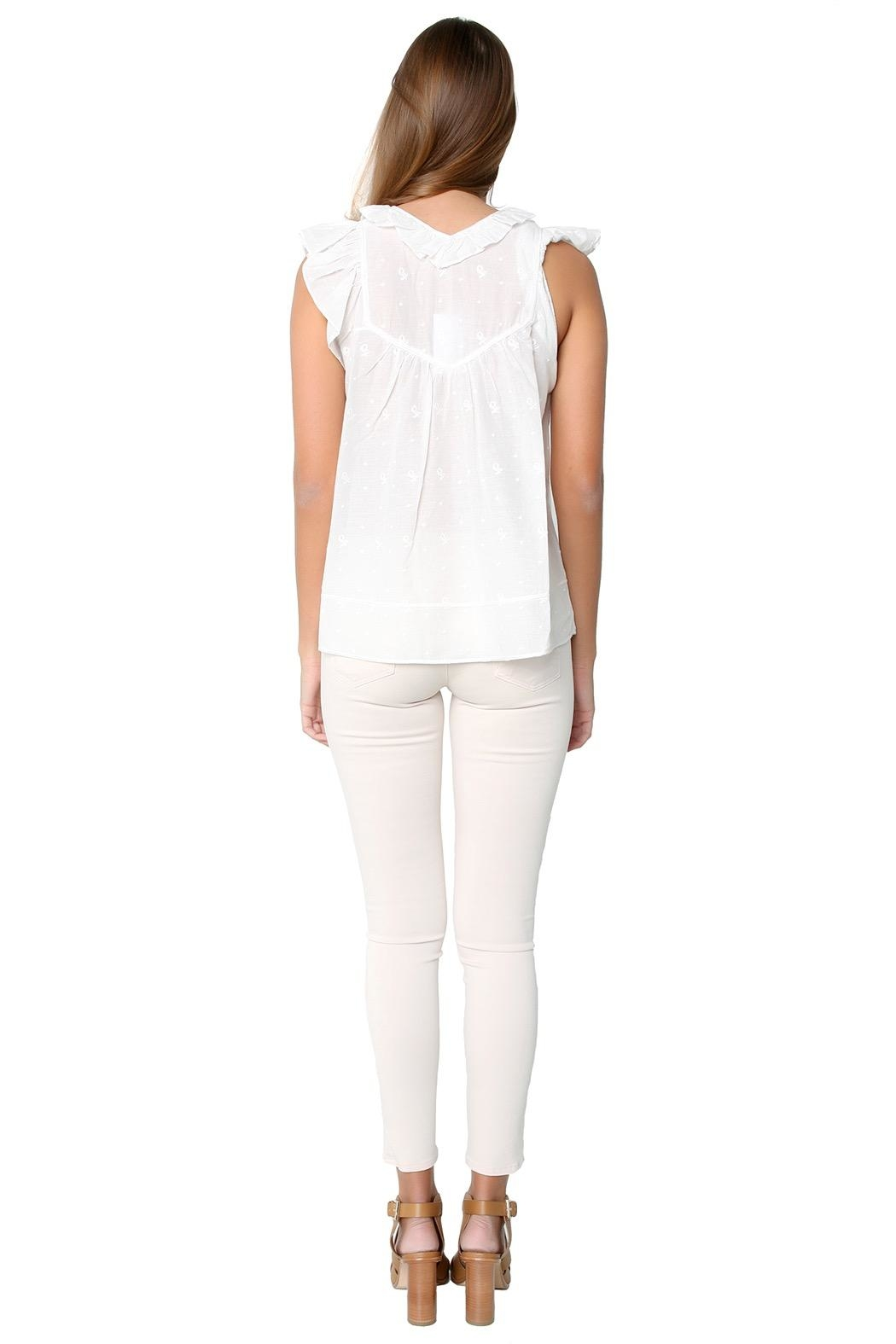 Ulla Johnson Adeline Blouse - Back Cropped Image