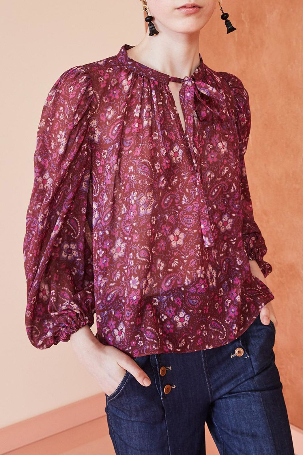 Ulla Johnson Carmine Floral Blouse - Front Full Image