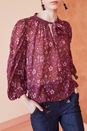 Ulla Johnson Carmine Floral Blouse - Front full body