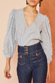 Ulla Johnson Julie Bow Blouse - Front cropped