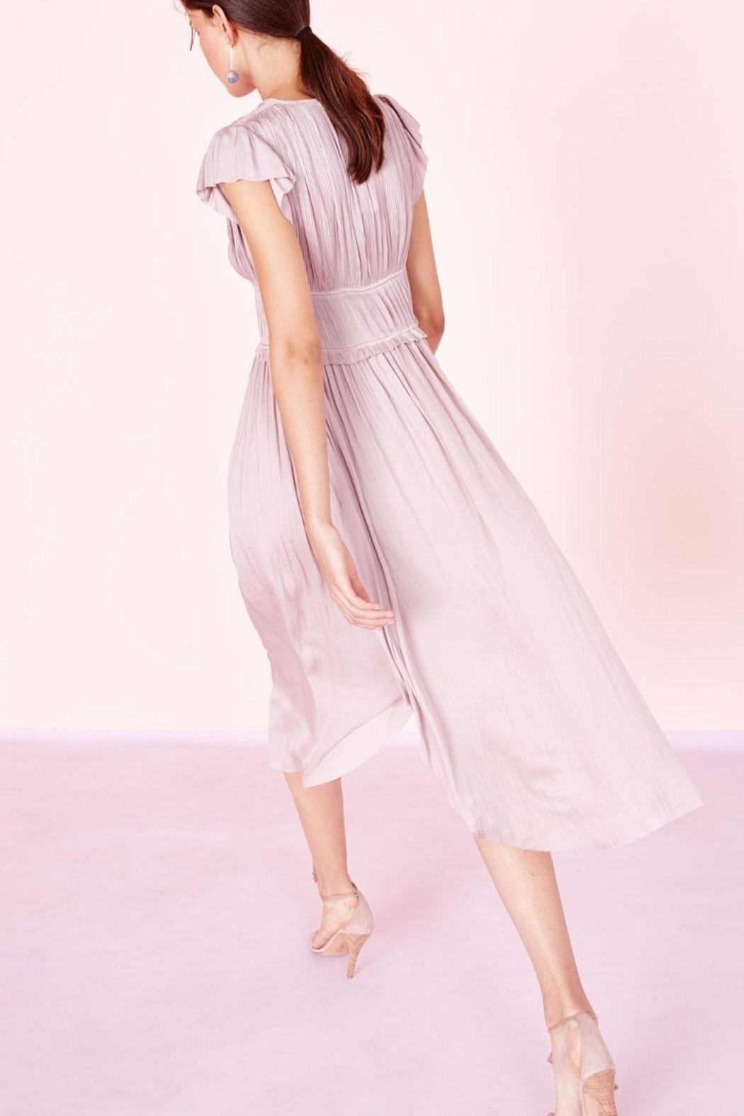 Ulla Johnson Kaiya Satin Dress - Side Cropped Image