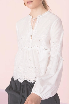Ulla Johnson Lucie Embroidered Top - Product List Image