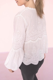 Shoptiques Product: Lucie Embroidered Top - Side cropped