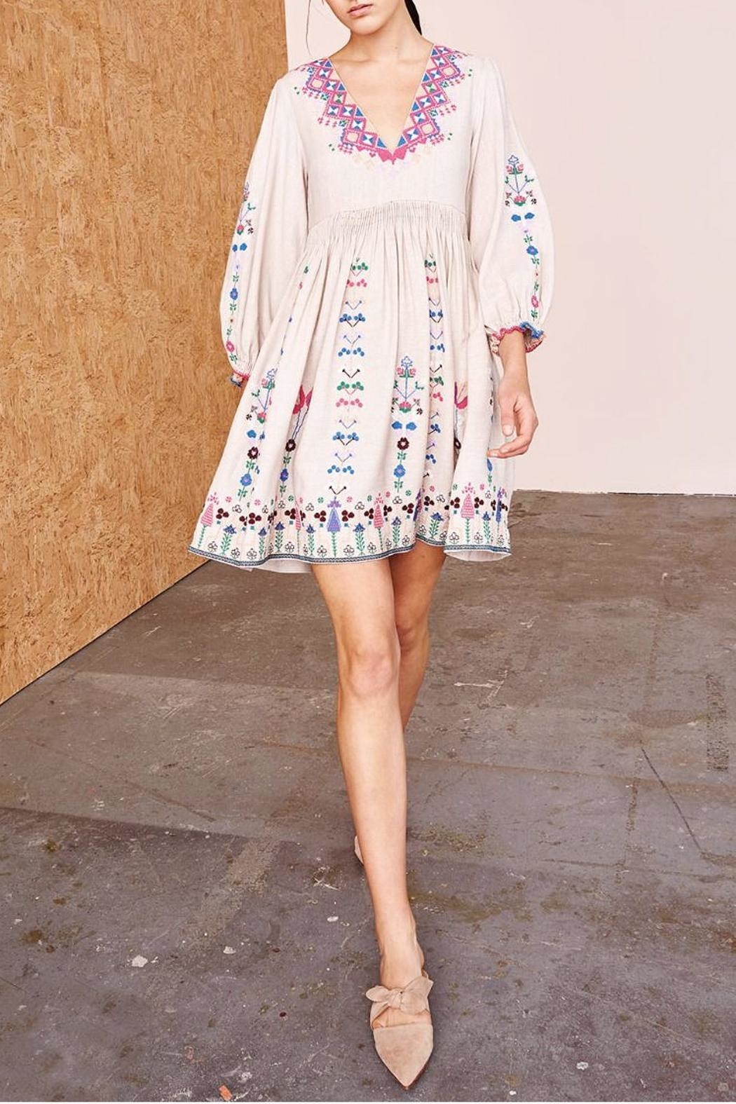 Ulla Johnson Vija Embroidered Dress - Front Cropped Image