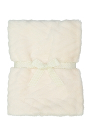 MINI POCKET Ultimate Fur blanket for baby girl or boy, Infant or newborn receiving blanket for crib, stroller, travel, (23 x 33 inches) Great Baby Shower Gift - Front cropped