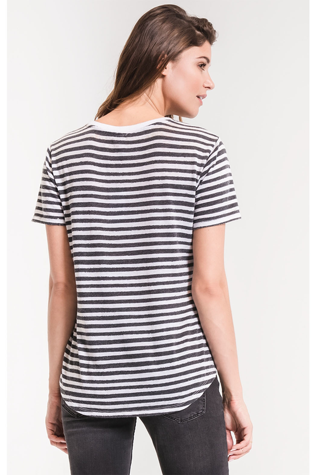 z supply Ultimate Stripe Tee - Back Cropped Image