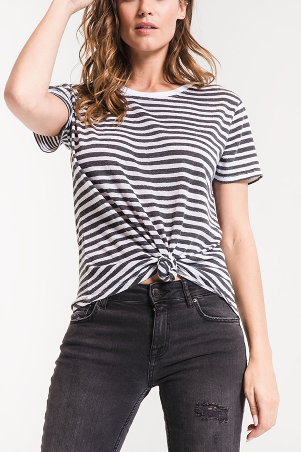 z supply Ultimate Stripe Tee - Front Cropped Image