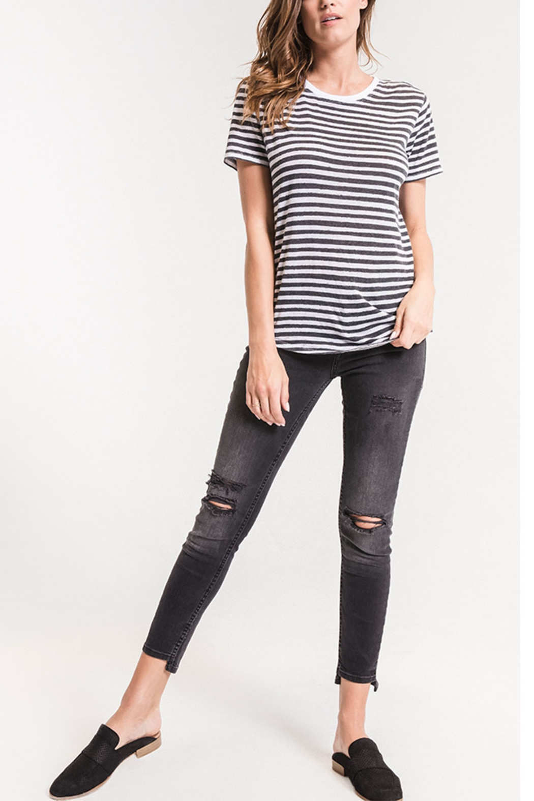 z supply Ultimate Stripe Tee - Front Full Image