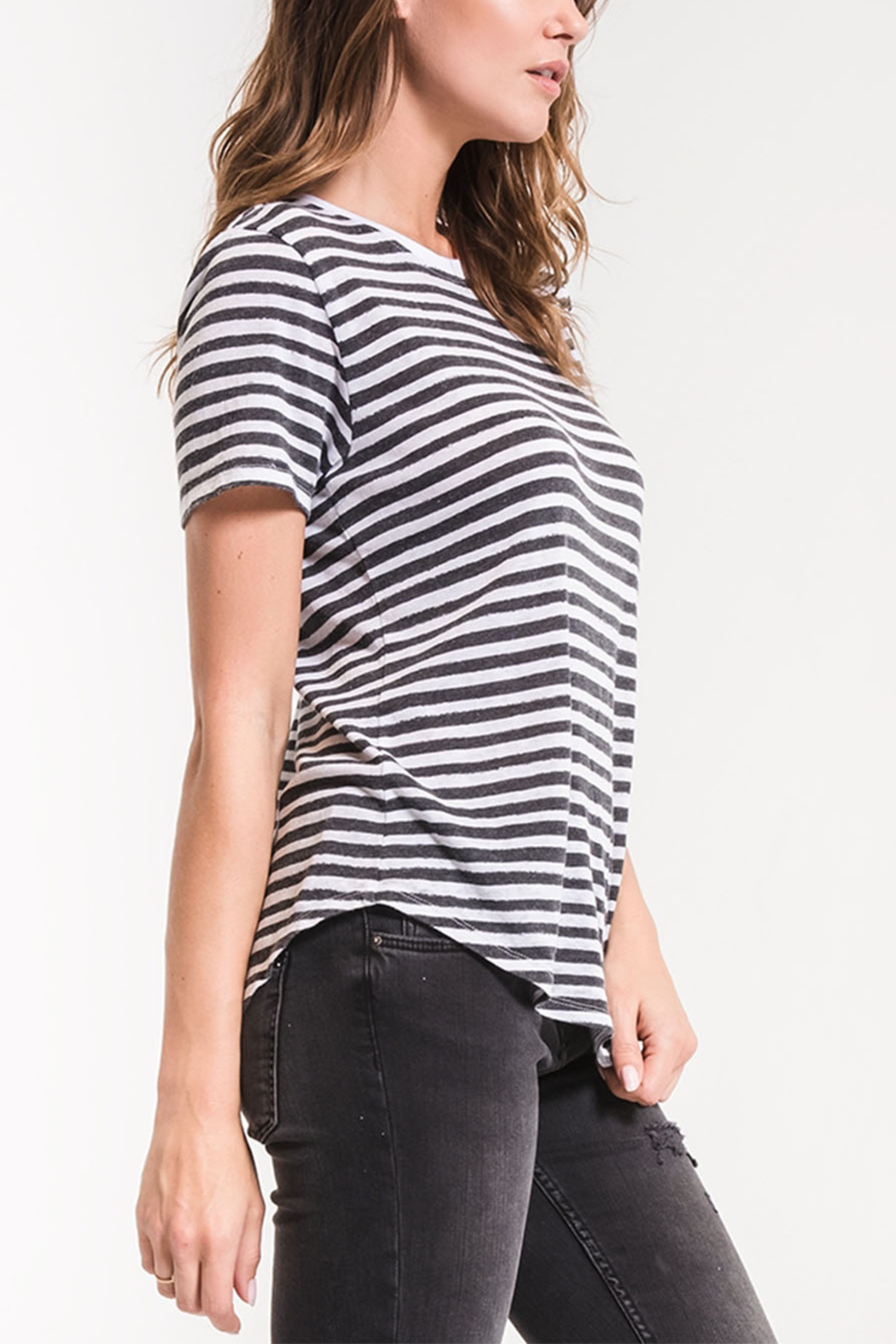 z supply Ultimate Stripe Tee - Side Cropped Image