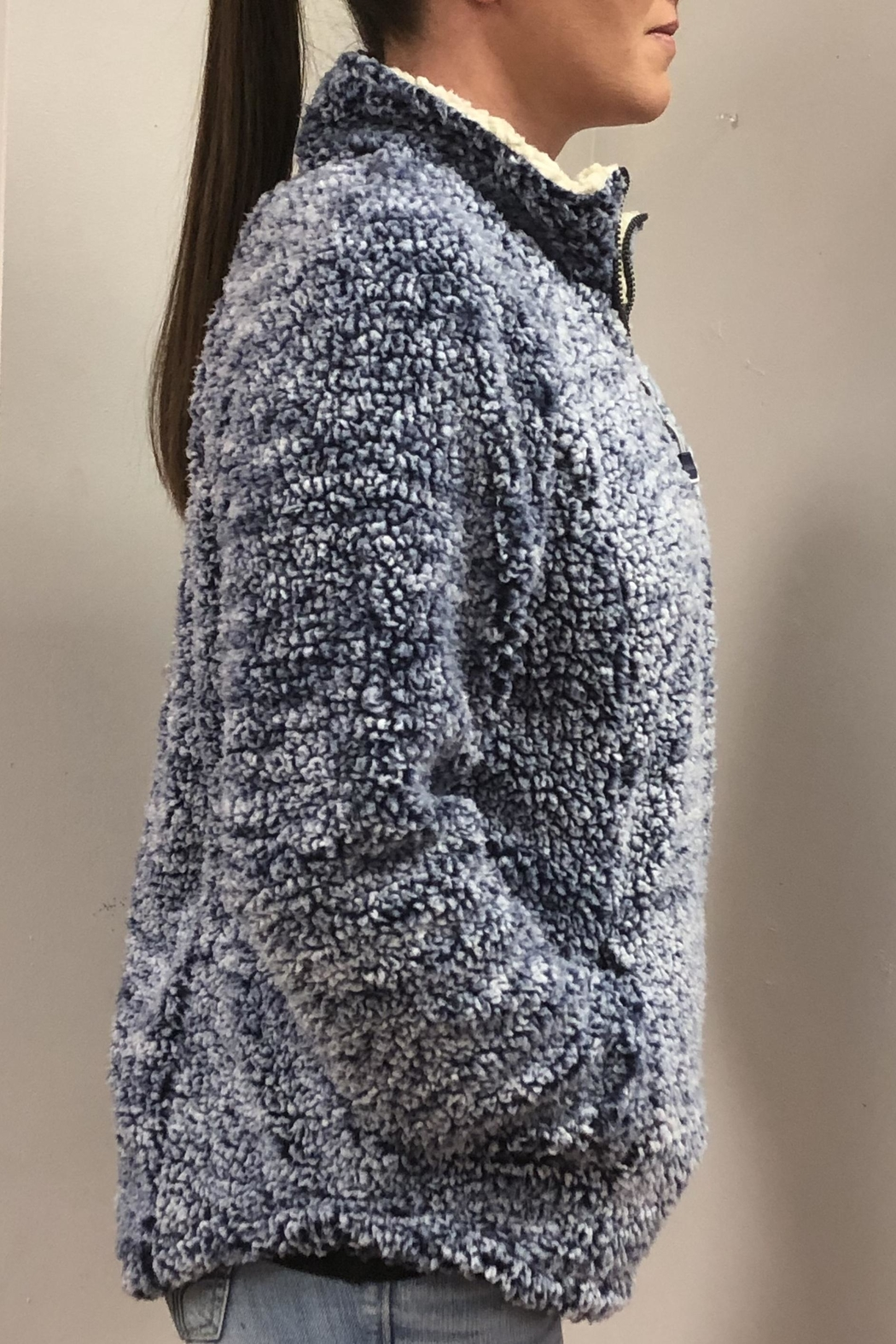 Keren Hart Ultra Fuzzy Pullover - Side Cropped Image