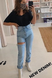 English Factory Ultra High Rise Mom Jeans - Product Mini Image