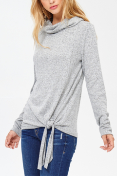 Shoptiques Product: Ultra Soft Cowl Neck Knot Detail Sweater