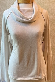 Tribal  Ultra-soft,  French terry cowl neck top, long sleeves - Product Mini Image