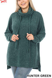 Lyn -Maree's Ultra Soft Melange Sweater - Front cropped