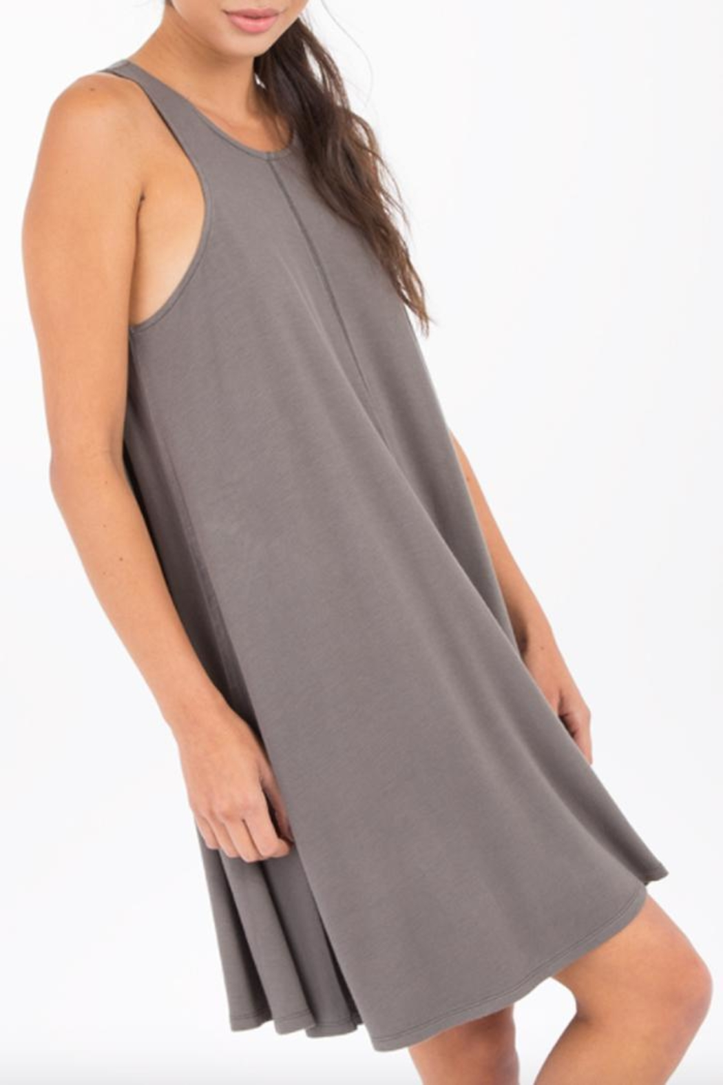 Others Follow  Ultra-Soft Swing Dress - Front Full Image
