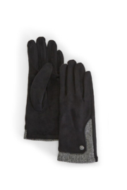 Two's Company Ultra Suede Gloves w Chevron Trim - Product Mini Image