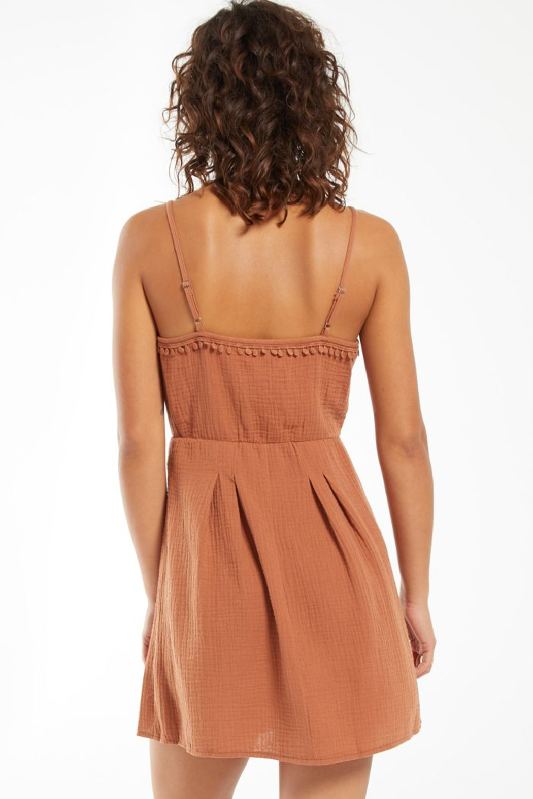 z supply Umbra Gauze Dress - Back Cropped Image