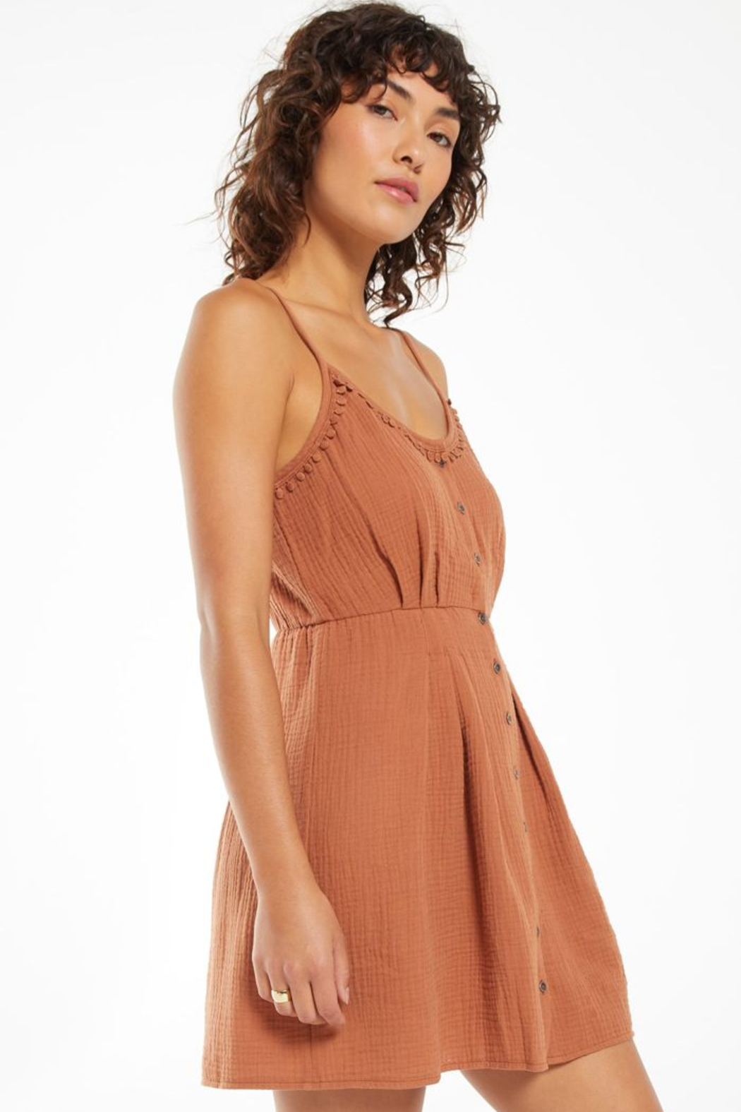 z supply Umbra Gauze Dress - Side Cropped Image