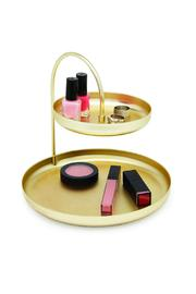 Umbra Gold Accessory Tray - Front full body