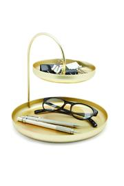 Umbra Gold Accessory Tray - Side cropped
