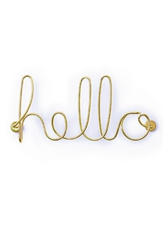 Shoptiques Product: Wired Hello Wall Art