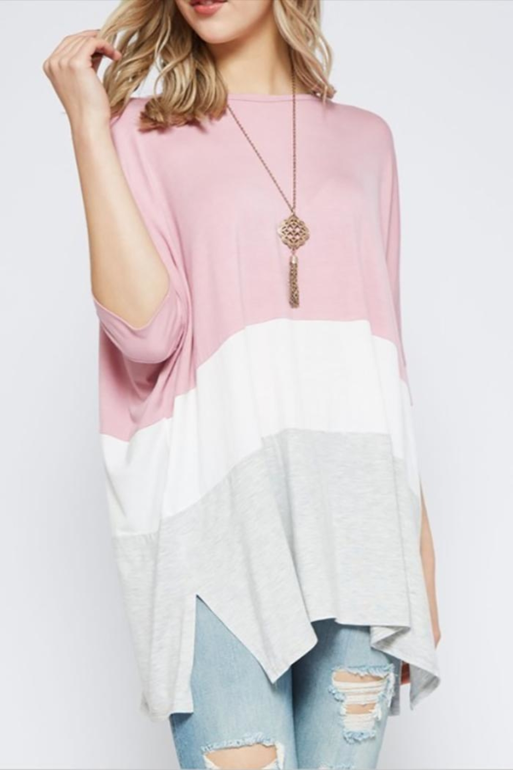 UMG PLUS Color Block Tunic - Main Image