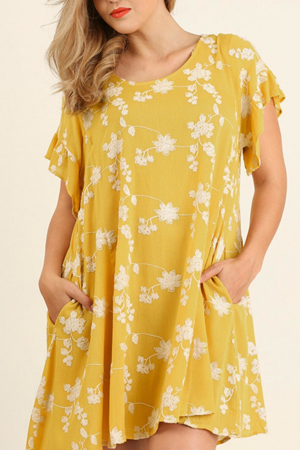 UMG PLUS Embroidery A-Line Dress - Front Cropped Image