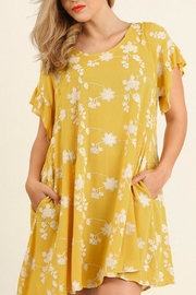 UMG PLUS Embroidery A-Line Dress - Front cropped