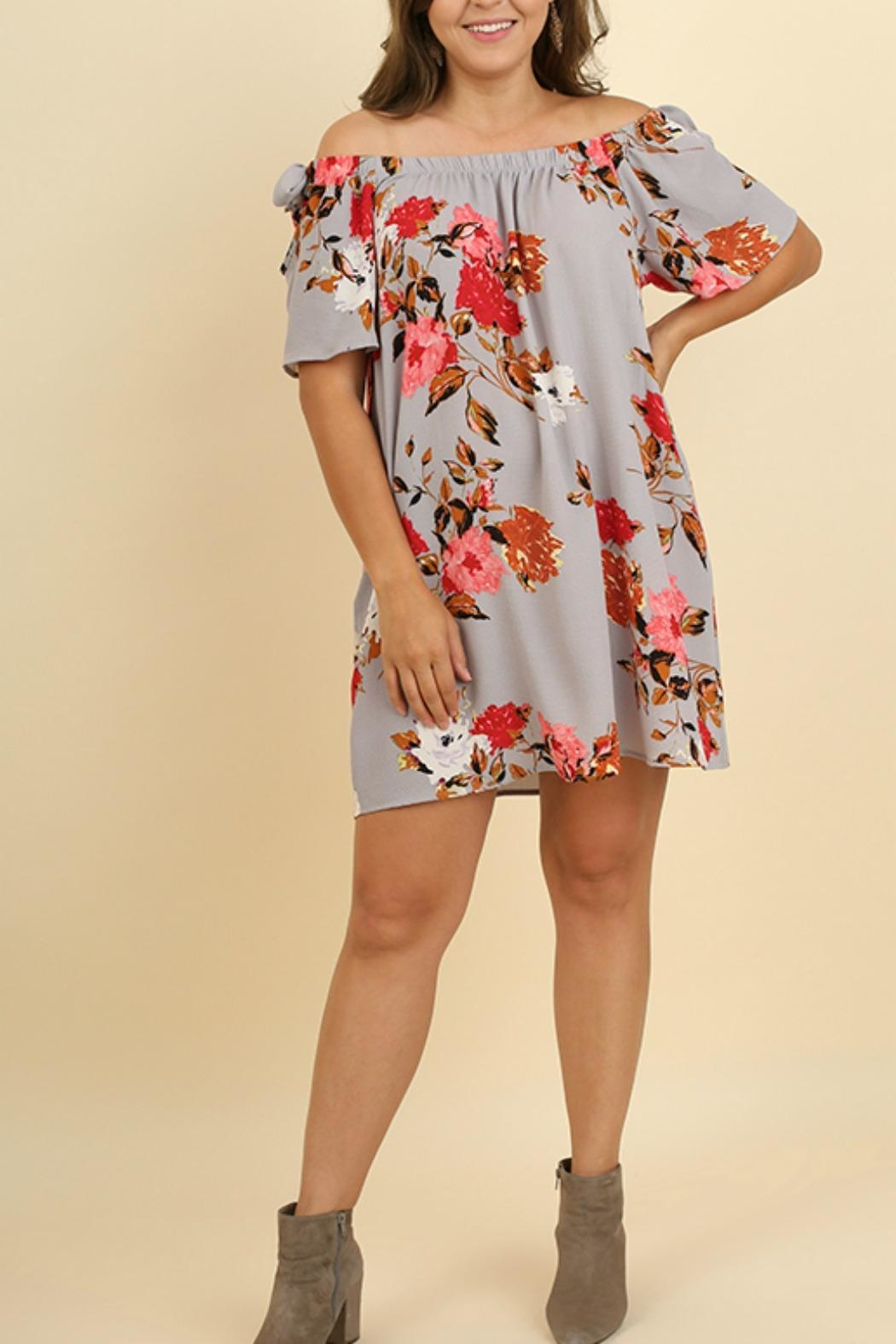 UMG PLUS Floral Shift Off-Shoulder - Main Image