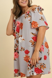 UMG PLUS Floral Shift Off-Shoulder - Front full body