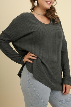 Shoptiques Product: Grey Sweater Top