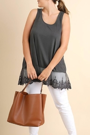 UMG PLUS Lace Hem Tank - Product Mini Image