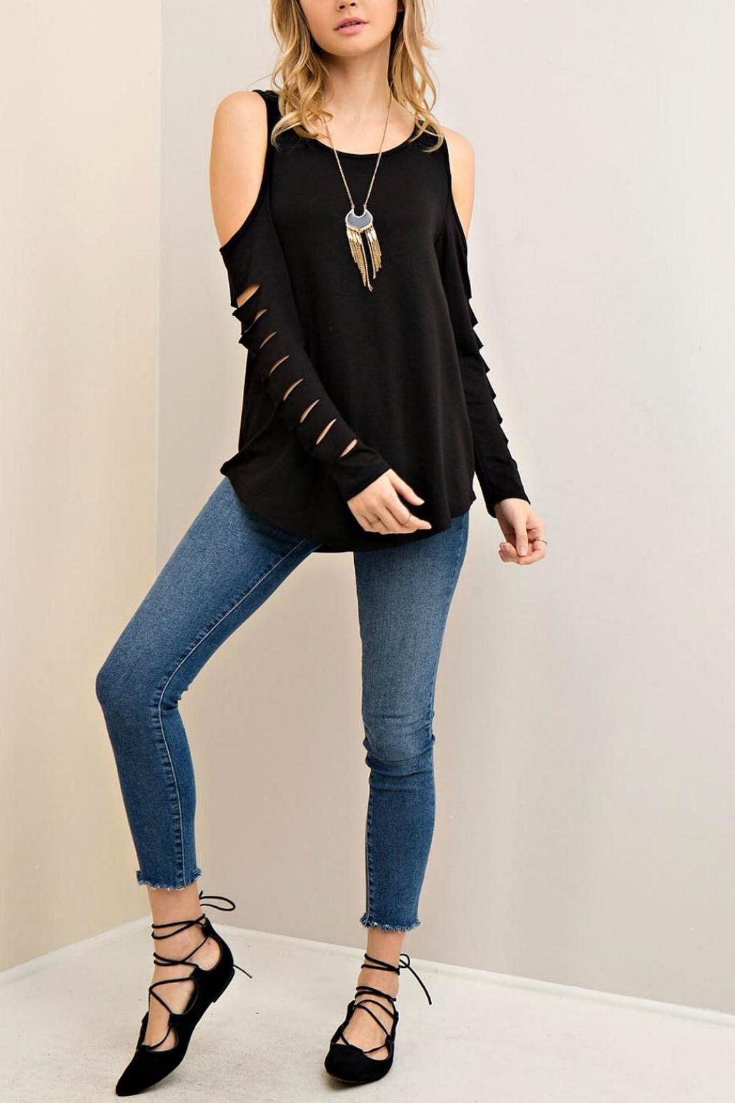 Entro Open Shoulder Top - Front Cropped Image