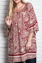 UMG PLUS Paisley Shift Plus Top - Product Mini Image