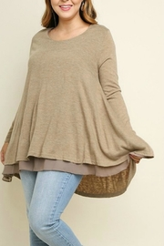 UMG PLUS Pretty Layered Tunic - Front cropped