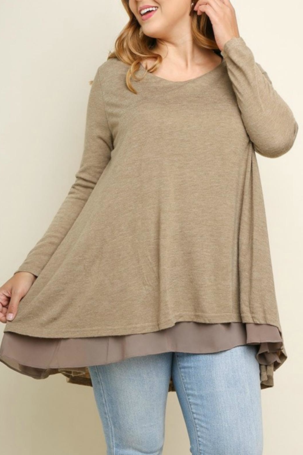 UMG PLUS Pretty Layered Tunic - Front Full Image