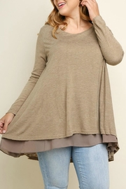 UMG PLUS Pretty Layered Tunic - Front full body
