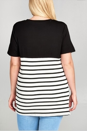 UMG PLUS Side Knotted Top - Front full body