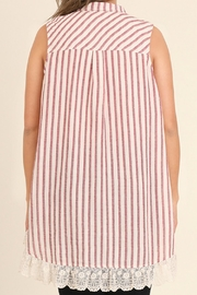 UMG PLUS Striped Collared Tunic - Side cropped