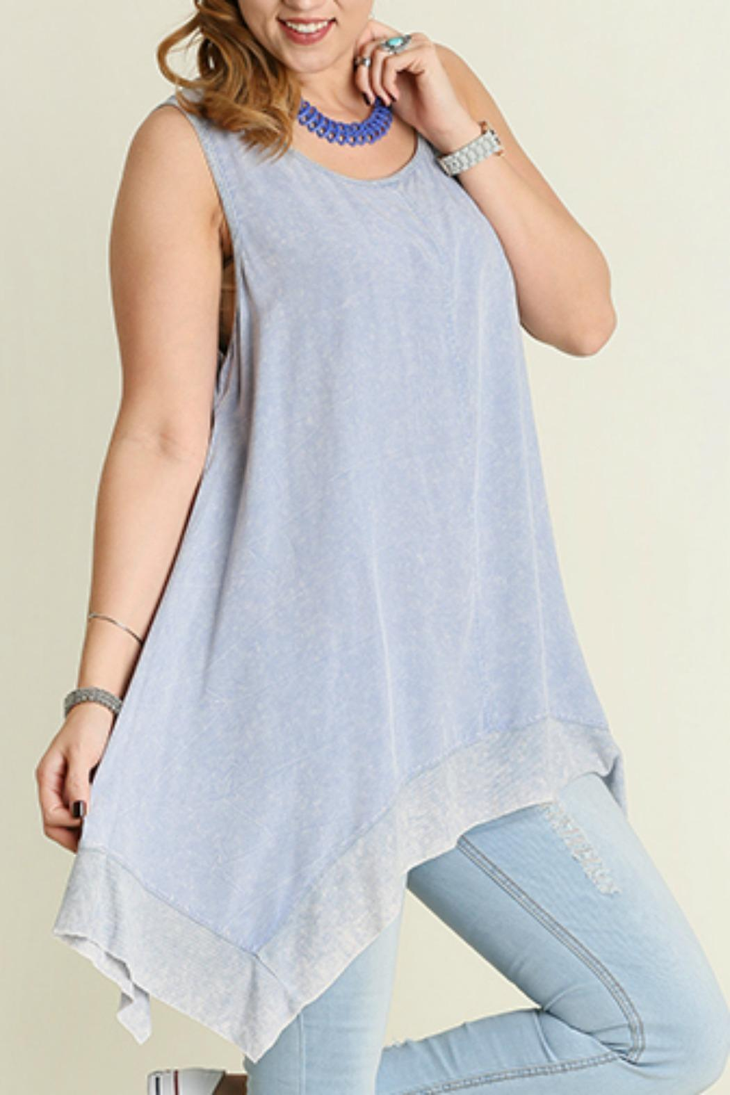 Umgee USA Tunic Tank Top - Back Cropped Image