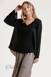 Umgee Animal Print Top - Front cropped