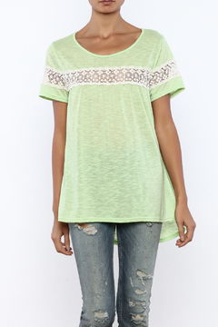 Shoptiques Product: Apple Green Flowy Tee