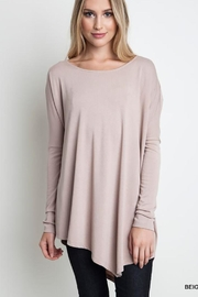 Umgee Asymmetrical L/s Top - Product Mini Image