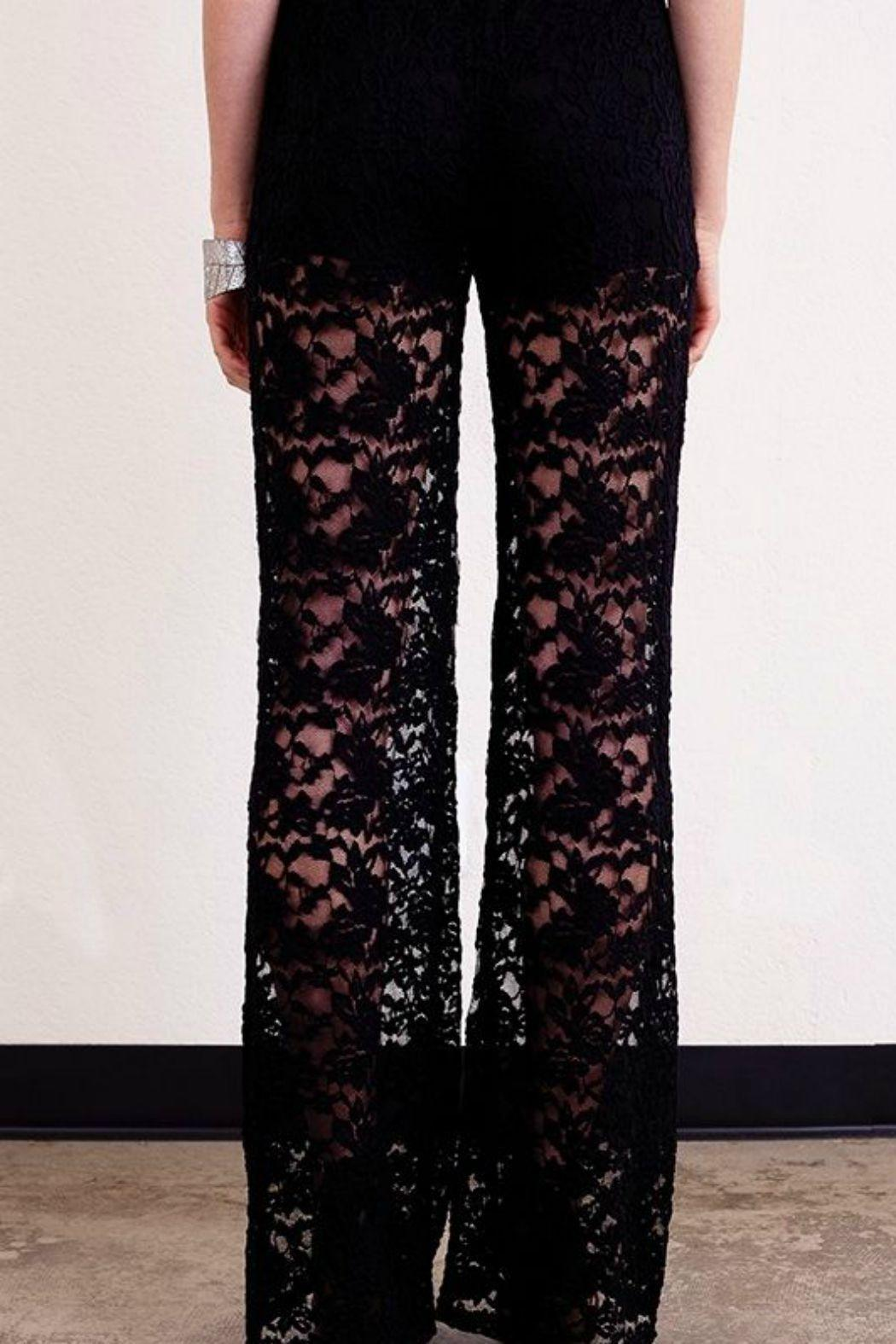 Umgee USA Black Lace Trouser - Side Cropped Image