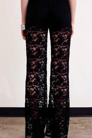Umgee USA Black Lace Trouser - Side cropped