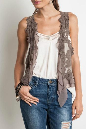 b1ecb2736e2805 Umgee USA Chic Lace Vest from Franklin by Adalees — Shoptiques