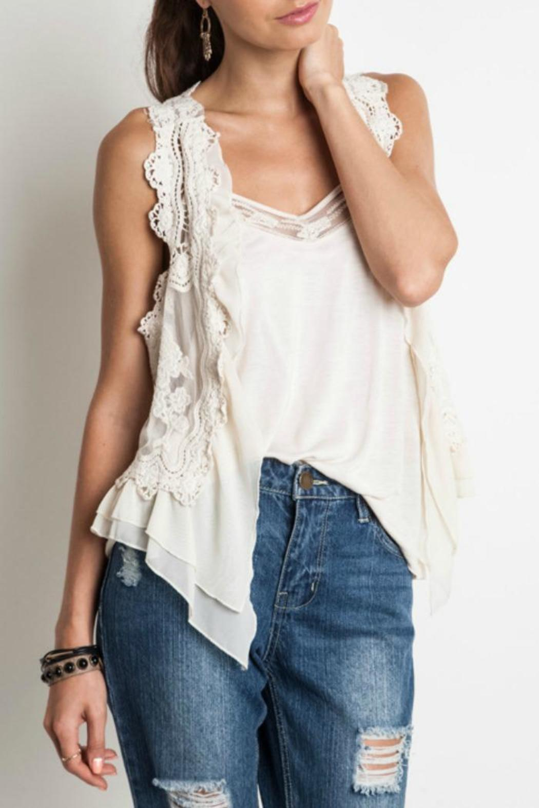e0239c569eadf Umgee USA Chic Lace Vest from Franklin by Adalees — Shoptiques