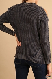 Umgee USA Cold Shoulder Sweater - Front full body