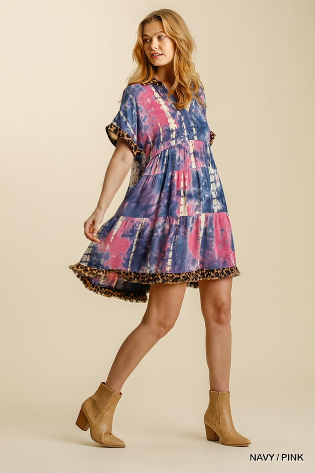 Umgee Confetti Dress - Front Full Image