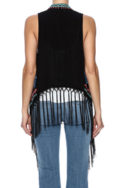 Umgee USA Embroidered Fringe Vest - Back cropped